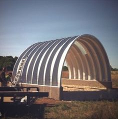quonset-hut-construction - base for barn?