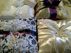 Beautiful Ring Bearer pillows by www.suspencedesigns.com