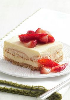 Strawberry Shortcake Squares — In true strawberry shortcake style, these squares have sweet layers topped with fresh berries. Bonus: This dessert can be made ahead for a party.