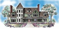 Eplans Queen Anne House Plan - Classic Victorian Charm - 5385 Square Feet and 5 Bedrooms from Eplans - House Plan Code HWEPL10101