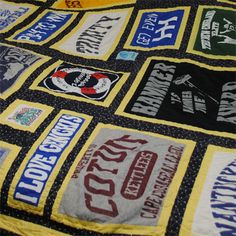 T-Shirt Blanket! Get Preppy College Dorm Room Ideas like this on Uscoop.com!