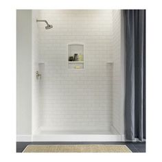 Swanstone Shower Subway Tile Wall Kit 36 x 62 x 96 - Solid Color - Swanstone Products - ePlumbing Products Inc. Shower Inserts, Shower Wall Panels, Shower Surround Panels, Tub Surround, Tile Panels, Shower Wall Kits, Bathroom Renos, Bathroom Renovations, Bathroom Ideas