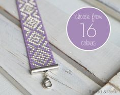 CUSTOM DESIGN: White Delica Beaded Loom Cord by ThreadAndRock