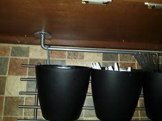More kitchen storage without drilling into tile backsplash - IKEA Hackers