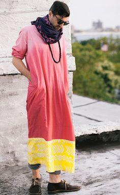 finest selection 35c3c 7e282 Pink  Yellow Gradient  Bogolan-Print Hand- Batik Cotton Booboo This Pink