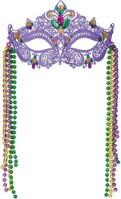 Be a stylish beauty with our Filigree Mardi Gras Mask! This Filigree Mardi Gras Mask features an intricate design and is the perfect accessory to wear to ...