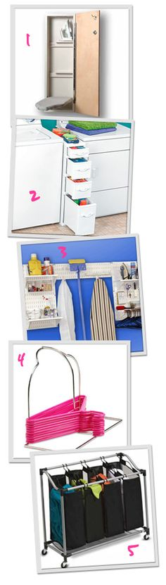 5 Laundry room organizers we love.  I'm recommended the divide and conquer for a client yesterday.