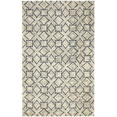 Subtlety isn't a lost art. Handcrafted of resilient wool, our rug features thick yarns for superior dimension and texture. Plus, its repeating geometric pattern adds understated detail to the foundation of your room. Elusive but effective.