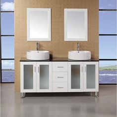 @Overstock - Combining style and functionality, this Malibu double sink vanity will beocme the center spotlight of your bathroom.http://www.overstock.com/Home-Garden/Design-Element-Ove-60-inch-Double-Sink-Vanity-Set-with-Black-Tempered-Glass-Top/6463189/product.html?CID=214117 $1,478.99