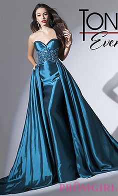 Strapless Tony Bowls A-line Gown at PromGirl.com....love this
