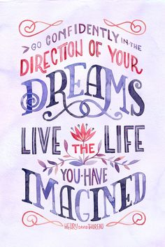Live the live you've imagined. #quote #inspiration