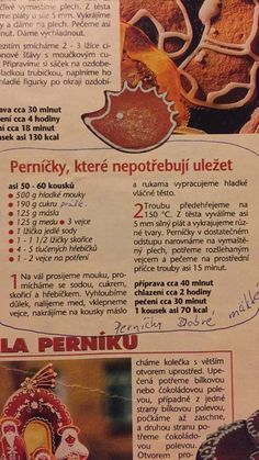 Perničky mäkké Slovak Recipes, Czech Recipes, Sicilian Recipes, Sicilian Food, Christmas Crafts For Gifts, Christmas Baking, Sweet Desserts, Sweet Recipes, Healthy Cake