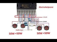 how to make Real home theater amplifier 200 Watts using TDA8571j - YouTube