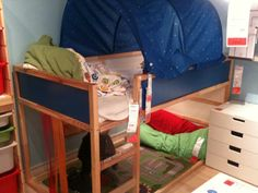 I like that canopy over the bunkbed