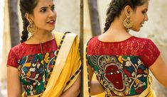 The importance of a well fitted and beautiful patchwork blouse is well known to every woman familiar with sarees. A saree can never look the best unless it is paired with the right blouse. Patch Work Blouse Designs, New Blouse Designs, Blouse Back Neck Designs, Net Saree, Silk Sarees, Princess Cut Blouse, Net Blouses, Floral Patches, Blouse Models