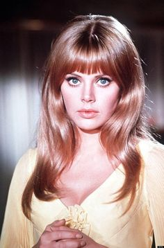 Vintage Hairstyles With Bangs Britt Ekland Photo - 1970s Hairstyles, Vintage Hairstyles, Wig Hairstyles, Wedding Hairstyles, Long Hairstyles With Bangs, Long Haircuts, Homecoming Hairstyles, Updo Hairstyle, Party Hairstyles