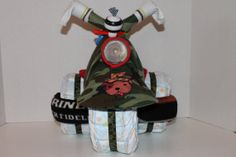 Military themed diaper tricycle. https://www.etsy.com/listing/174247489/military-themed-diaper-tricycle?ref=shop_home_active_9