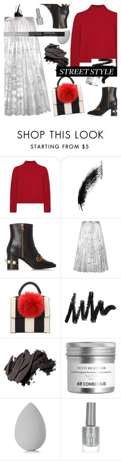 """NYW Street Style : And I Telling You I'm Not Going"" by riskiarrafida ❤ liked on Polyvore featuring Chloé, Gucci, Les Petits Joueurs, Bobbi Brown Cosmetics, beautyblender and New Look"