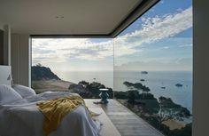 Fenster Design für ein Panoramablick auf das Meer
