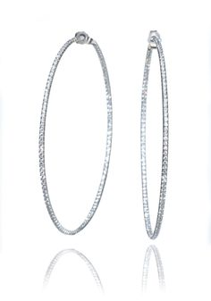 Oster Collection Diamond Inside/Outside Hoop Earrings