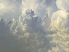 Images of christ in the clouds