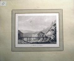 1776 Rosenberg Aquatint MOULIN on the BIRS Jura SWITZERLAND wash SUISSE…
