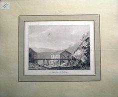 1776 Rosenberg Aquatint MOULIN on the BIRS Jura SWITZERLAND wash SUISSE…