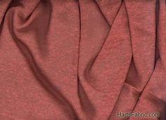 Linen Fashion Lightweight Sweater Knit Fabric Rust. hartsfabric.com
