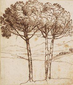 Claude Gellée, known as Claude Lorrain (1600 or 1604/05 – 1682)  circa 1640  Pen and brown ink