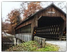 State Road Covered Bridge #3, Ashtabula County OH 2013, shot with Lensbaby Soft Focus Optic. By Kolman Rosenberg www.photographyunposed.wordpress.com