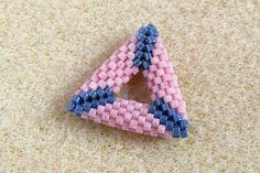 3D háromszög fűzése peyote technikával, peyote triangle tutorial