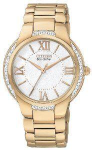 Citizen Women's EM0093-59A Ciena Eco-Drive Rose Gold Tone Watch