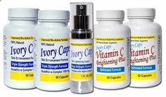 Skin Whitening Lightening System 2 IvoryCaps Ivory caps Skin Whitening Pills Skin Lightening Cream Vitamin C 100 Natural No Side Affects >>> Visit the image link more details.