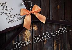 "i wonder if we can fit ""Dr Mrs. Molnar""  Hey, I found this really awesome Etsy listing at https://www.etsy.com/listing/80177453/sale-personalized-wedding-hanger-brides"