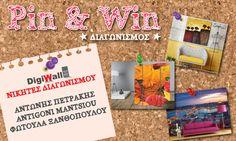 Καλημέρα... με τους 3 τυχερούς του διαγωνισμού μας στο Pinterest που κερδίζουν από έναν πίνακα σε καμβά #DigiWall, διάστασης 50x35cm με το αγαπημένο τους θέμα. Συγχαρητήρια στους νικητές!!!    Θα σας σταλεί σύντομα ενημερωτικό email για τον τρόπο παραλαβής του δώρου σας. Cover, Books, Libros, Book, Book Illustrations, Libri