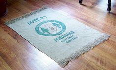 burlap sack rug tutorial