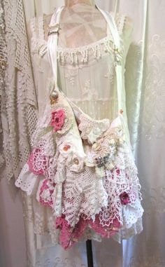 Hey, I found this really awesome Etsy listing at https://www.etsy.com/au/listing/244830176/frilly-lace-bag-romantic-victorian