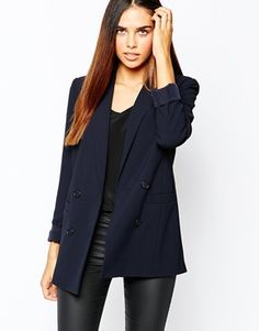 Warehouse Double Breasted Textured Blazer