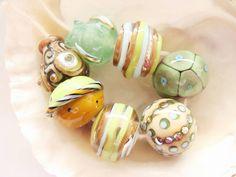 7 Handmade Lampwork Beads by IrinaS on Etsy, $34.00