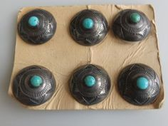 6-matching-old-petite-navajo-concho-buttons-stamped-with-turquoise-sterling