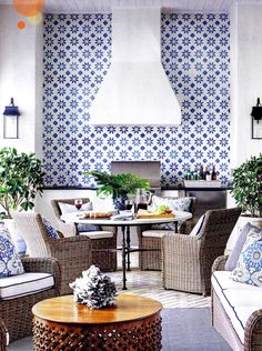 A Porch Tiles in Granada Cement Tile Is One Of The Most Popular Outdoor Rooms On Houzz