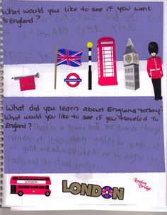 Journaling about England - Around the world learning for kids.