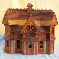 Old Victorian Model Folk Tramp Art. .....Rick Maccione-Dollhouse Builder www.dollhousemansions.com