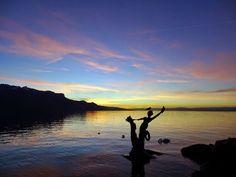 21 décembre 2014 Vevey, Switzerland, Celestial, Mountains, Sunset, Nature, Travel, Outdoor, Outdoors