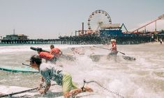 Shore to be a good time. The Santa Monica Pier is officially putting summer on notice with the announcement of the first Pier 360 Ocean Sports & Beach Festival on Saturday, June 23rd and Sunday, June 24th. On the deck, down to the shore and into the waves, the Pier will offer a complete 360° of California beach culture Sup Racing, California Beach, Santa Monica, Paddle, Announcement, June, Sunday, Deck, Bring It On