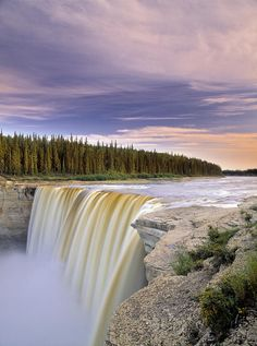 canada, hey river, alexandra fall, rivers, place, northwest territories, hay river