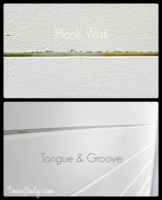 Considering doing a plank wall? Read this before you do.  Differences between tongue and groove vs. plywood planks. 4men1lady.com