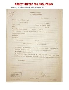 This is an excellent Rosa Parks Primary Source Documents Activity in which students analyze a series of documents related to her arrest and the Civil Rights Movement. Great for implementing CCSS into as lesson!