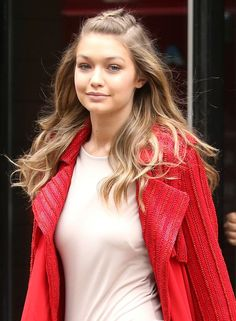 Model Gigi Hadid in the Big Apple