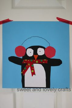cute penguin craft (template included)!